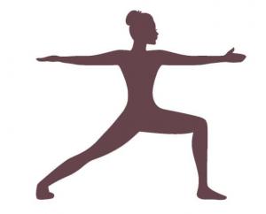 yoga übung der Held