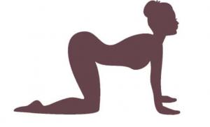 yoga übung der pferderücken gegen rückenschmerzen
